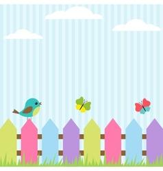 bird and butterflies vector image vector image