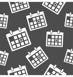 Calendar icon pattern vector image vector image