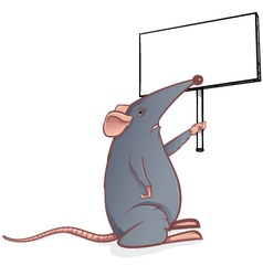 mouse with sign vector image vector image