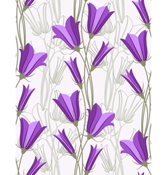bluebells - seamless pattern vector image vector image