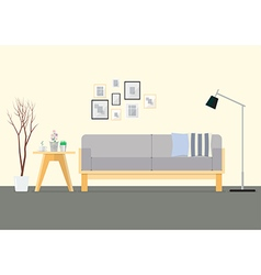 Flat Design Interior Living Room vector image
