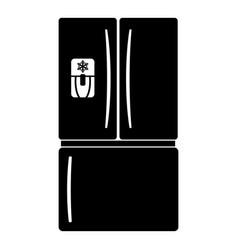fridge icon simple black style vector image