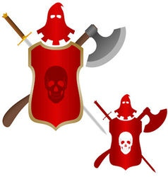 Medieval weapons executioner vector image vector image