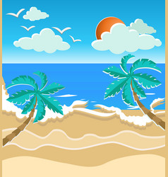 paper art style summer time card vector image