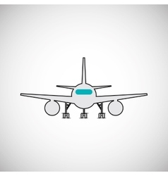airplane design flat vector image vector image