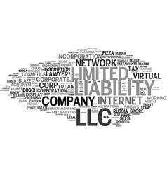 llc word cloud concept vector image