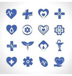 Medical Logo Blue vector image