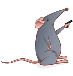mouse with gun vector image vector image