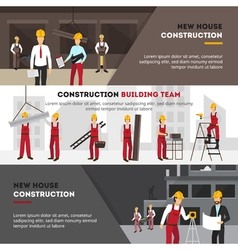 Building Banners Set vector image vector image