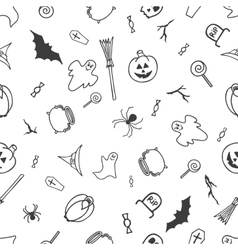 Seamless pattern for Halloween on white background vector image vector image