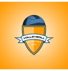 Volleyball logo for the team and the cup vector image