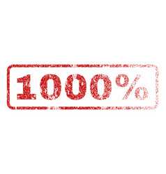 1000 percent rubber stamp vector