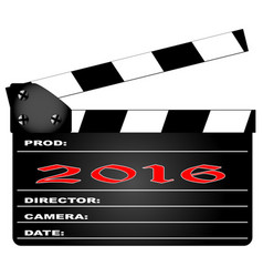 2016 clapper board vector