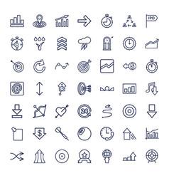49 arrow icons vector
