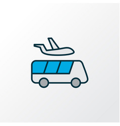 airport shuttle icon colored line symbol premium vector image