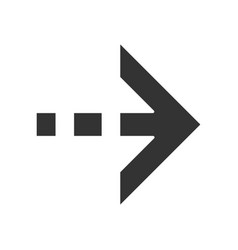 Arrow with dotted dash line glyph icon east vector