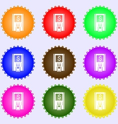 atm icon sign Big set of colorful diverse vector image