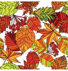 autumn leaf seamless pattern vector image