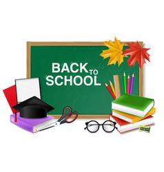 Back to school board supplies realistic vector