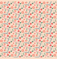 background cute floral pattern vector image