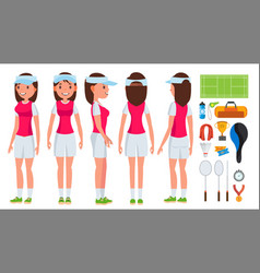 badminton player female summer game vector image
