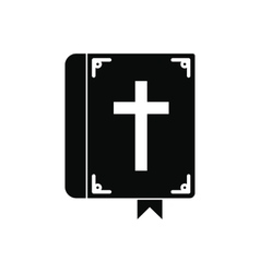 Bible single black icon vector image