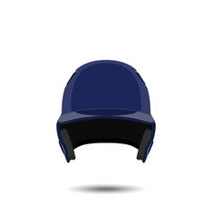 blue baseball helmet on white background vector image