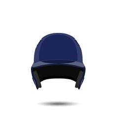 blue baseball helmet on white background vector image