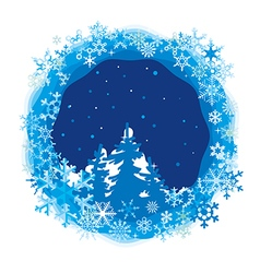 border from colored snowflakes vector image