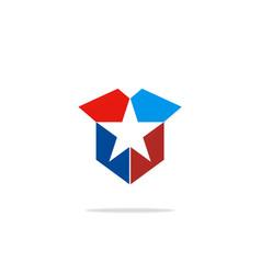 box star sign favorite logo vector image