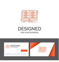 Business logo template for book education lesson vector