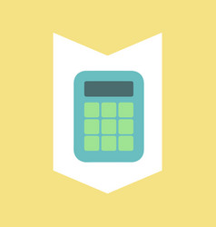 calculator for financial calculating mechanism vector image