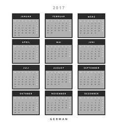 Calendar 2017 in German simple modern vector image