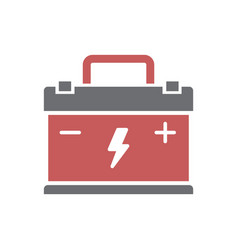 Car battery icon on white background for graphic vector