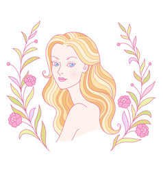 cartoon blondy girl vector image