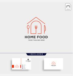 City food equipment simple flat logo design vector