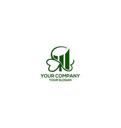 Clover financial logo design vector