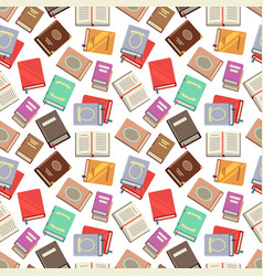 colorful books seamless pattern - school books vector image