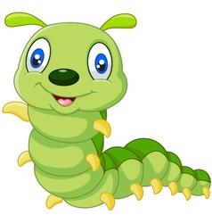 Cute caterpillar cartoon vector