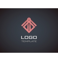 Fashion Jewelry luxury concept abstract logo vector image