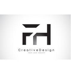 fh f h letter logo design creative icon modern vector image