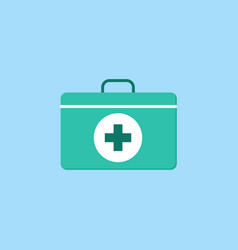 First aid box flat icon vector