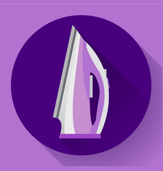 flat simple steam iron icon ironing of clothes vector image