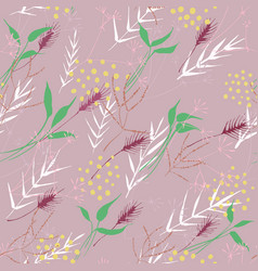 floral ornament abstract floral colored vector image