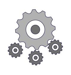 Gears machinery piece vector
