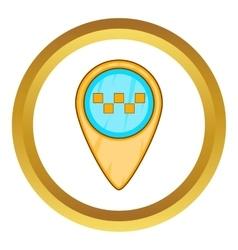 Geo taxi icon vector