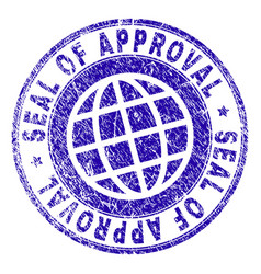 Grunge textured seal of approval stamp seal vector
