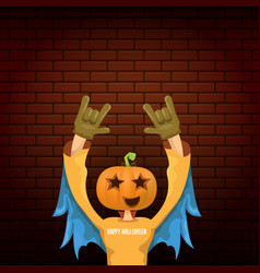 happy halloween creative hipster party vector image
