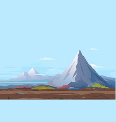 high mountain landscape background vector image