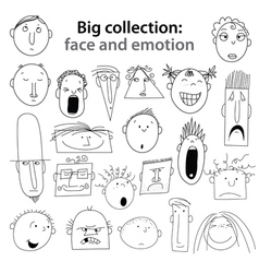 Human emotions vector